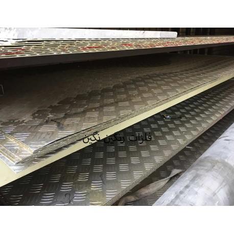 ورق آجدار آلومینیوم آلیاژی 2 متر در 1 متر ضخامت 2 میل